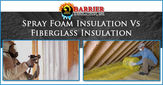 Spray foam insulation vs fiberglass insulation phoenix for Blown in insulation vs batts