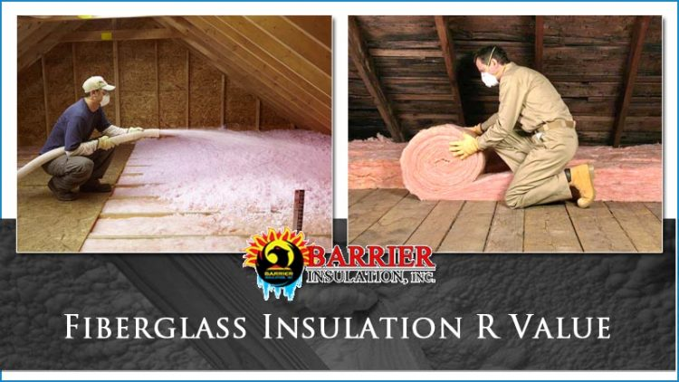 Fiberglass insulation r value barrier insulation inc for Batt insulation r values