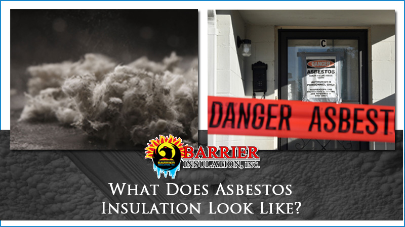 What does asbestos insulation look like barrier for Rockwool loose fill