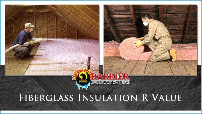 fiberglass insulation r value barrier insulation inc