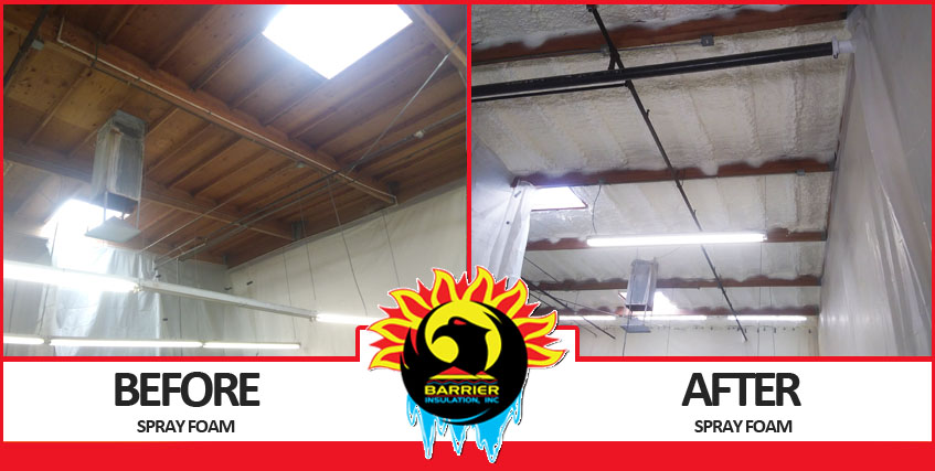 Before & After Spray Foam Insulation