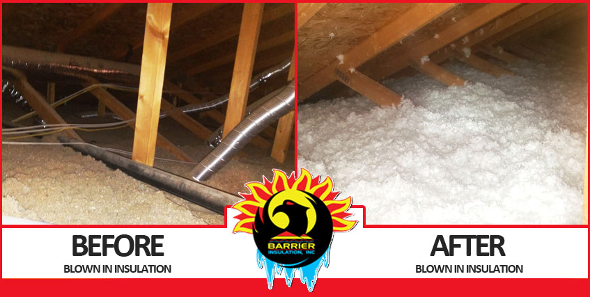 Blown In Insulation Before & After