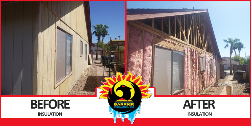 Insulation Before and After Photo